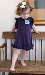 toddler ruffle dress from upcycled t shirt
