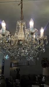 1960s 6 arm marie therese chandelier