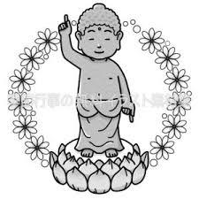 花まつり釈迦誕生仏像のイラスト 季節行事の無料イラスト素材集