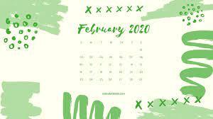 Floral February 2020 Calendar Wallpaper ...