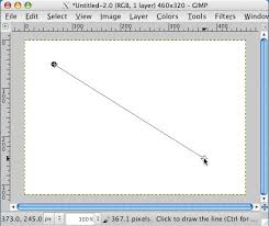 How to draw a dotted line? How To Draw A Straight Line In Gimp Alvinalexander Com