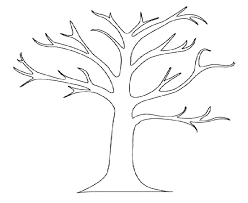 Coloring Page Tree Beautiful Bare Tree Coloring Page Or Bare Tree