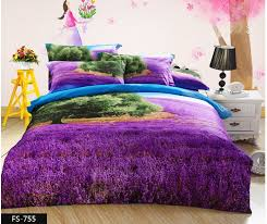 3d purple bedding set green tree lavender queen size quilt doona duvet cover sheet romantic bedspread bed in a bag double cotton in bedding sets from home