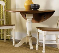tradisional round drop leaf dining table
