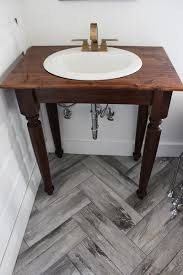 homemade bathroom vanity rustic top bathroom easy