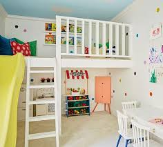 An inside look of the playhouse we posted yesterday Reading nook up top  and play. Playroom SlidePlayhouse ...