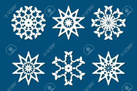 Paper Cutting Patterns Amazing Snowflake Set Laser Cut Pattern For Christmas Paper Cards Wood