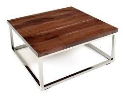 sleek wood coffee table