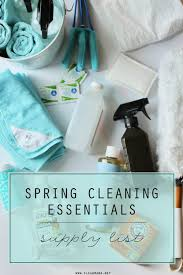 Printable Office Supply List Stunning Spring Cleaning Essentials Supply List Clean Mama