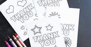 free printable thank you cards for kids to color send