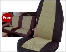 rear seat cover kit black tan