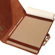 roll over image to zoom in leather business portfolio notebook folio writing pad brown urbanpro