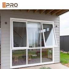 double glazing aluminum awning windows