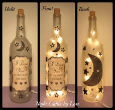 Lights For Wine Bottles I Love You To The Moon And Back Wine Bottle