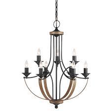 w 9 light stardust multi tier chandelier with distressed oak