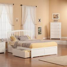 Atlantic Furniture Richmond White Queen Platform Bed With Storage at ...