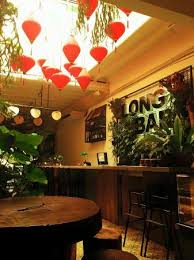 The update of latest Long Bar, Penang deco with lots of jungle ...