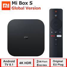 xiaomi mi box s, smart tv box android 8.1, 4K HDR Quad Core 2G 8G WIFI  Google Cast Netflix Set top Box 4 Media Player|Set-top Boxes