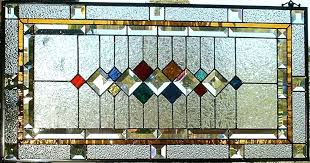 prairie style stained glass image of stained glass window panels patterns mission style stained glass panel