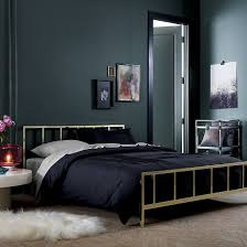 heavenly room painted black and best bed design