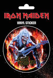 Iron Maiden Fear Live Flames Samolepka