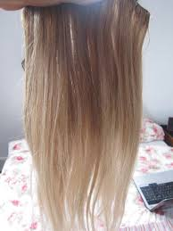 Brown And Blonde Dip Dyed Hair Extensions
