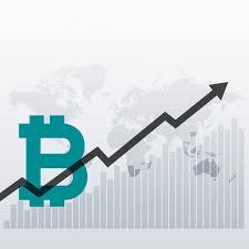 Free Bitcoin Upward Growth Chart Design Background Svg Dxf