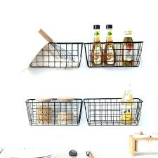 3 tier wall basket hanging baskets on wall for kitchen or metal popular basket 3 tier wall basket