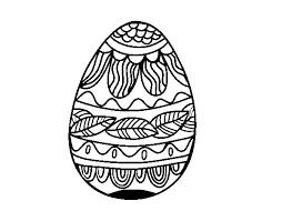 Disegno Di Uovo Di Pasqua Con Motivo Vegetale Da Colorare Acolorecom