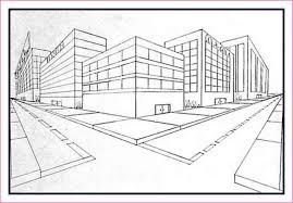 perspective drawings of buildings. Brilliant Buildings 2 Point Perspective Drawing Buildings With Drawings Of