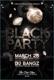 Party Flyer Best Black Party Flyer Templates Party Flyer Templates For Clubs