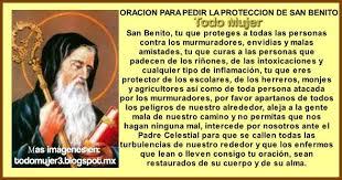 ORACION PARA PEDIR LA PROTECCION DE SAN BENITO   Oración a san ...