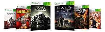 xbox 360 games ins creed 2 borderlands fallout 3 halo reach gears of war rainbow