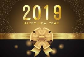 New Year Backdrops Laeacco Happy New Year 2019 Backgrounds Golden Party Celebration