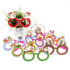 Christmas Photo Frames For Kids Funny Ornaments Paper Frames Evening Party Toy Kids Glasses Xmas