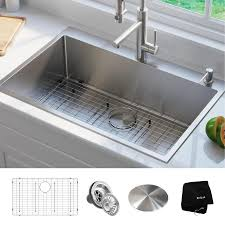 Kraus Standart Pro 33 In X 22 In Stainless Steel Single Basin Drop