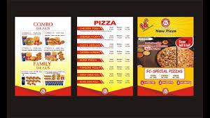 Food Menu Design Fast Food Menu Design Corel Draw Youtube