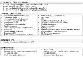 Cv Order Civil Engineering Cv Sample