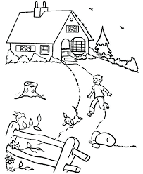 Coloring Pages House Coloring Pages For Toddlers Page White Sheet