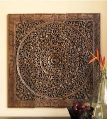 indonesian wood carving wall art