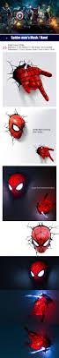 Spiderman Christmas Lights Avengers Spider Man Hand Modern Metal Wall Lights Sale