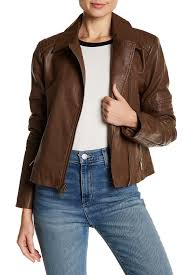 image of levi s faux leather asymmetrical moto jacket