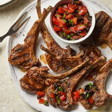 Moroccan Lamb Chops With Tomato Olive Relish Recipe Eatingwell
