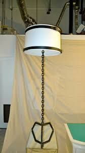 mid 20th century french modernist chain link floor lamp for