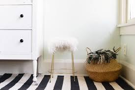 diy faux fur stool design