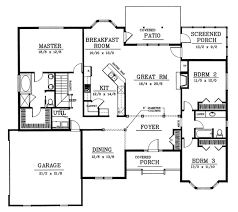 Traditional Style House Plan  3 Beds 200 Baths 2200 SqFt Plan 2200 Sq Ft House Plans