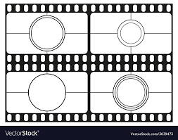 countdown templates film countdown templates movie theater frame vector image
