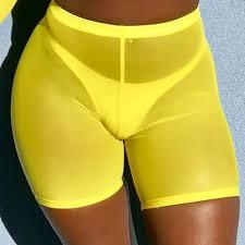 Sexy <b>Sheer</b> Mesh Shorts <b>Women</b> High Waist Transaparent <b>Summer</b> ...