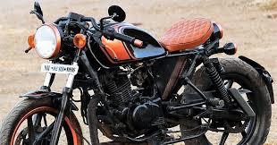 bajaj pulracer 200 cafe racer modified