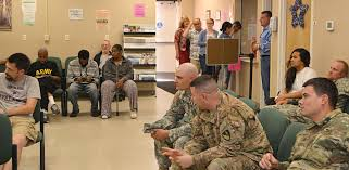walk in customers wait for service at the fort carson id card deers center